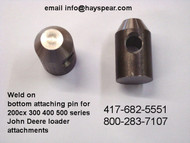 John Deere Weld on Bottom Pin for 200 to 500 Series Attachments