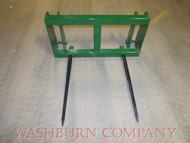 "Hay Bale Mover JD 148-158 Loader Hay Bale Spear Unit 2 Spear 33"" john deere haying equipment, john deere hay equipment, mc"