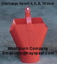 "Auger Utility Discharge Outlet Spout for 8"" Auger"