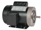 Electric motor 1/2 hp 1 phase TEFC 56c  2 yr warranty