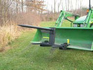 Clamp on hay mover 1 spear 2 stabilizers use existing bucket.