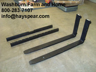 "Pallet Forks 48"" 4000 lb capacity Pair w/ class 2 clips"