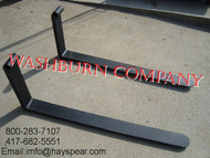 "48"" Pallet Forks 3000lb rating for 1 1/2"" rod"