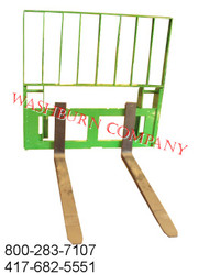 "48"" Pallet Fork Set With Topper to Fit JD 6-700"