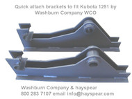 Kubota 1251 Attachment Brackets (pair)