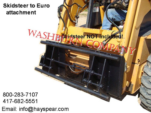 Skid steer Tractor to Global Euro or ALO Attachment Adapter