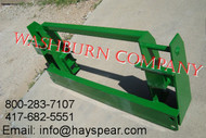 Adapter JD 600-700 Loader to JD 500 series Attachments