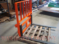 "Kubota 1001-1002 loader Pallet Forks 48"" 4000# w/ rack Forks are 48"" long and are rated at 4000# per pair"