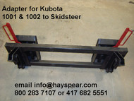 Kubota 1001 1002 Loader to Skid Steer Bobcat Quick Hitch Adapter