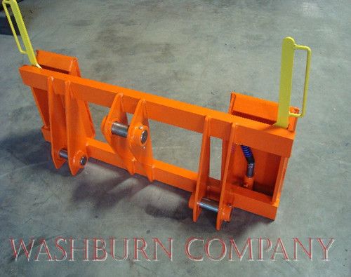 Tractor Loader Adapters : Kubota r loader to skid steer attachments adapter