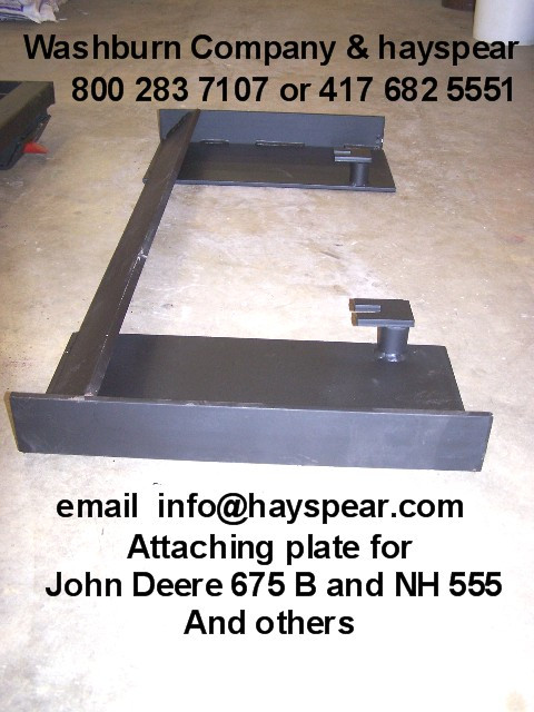 New Holland Ledger Plate : Jd b nh attaching plate