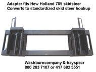 Quick Hitch Adapter New Holland 785 to Skid Steer Attachment