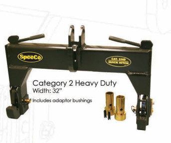 SpeeCo Category 1, 3-point Quick Coupler Hitch
