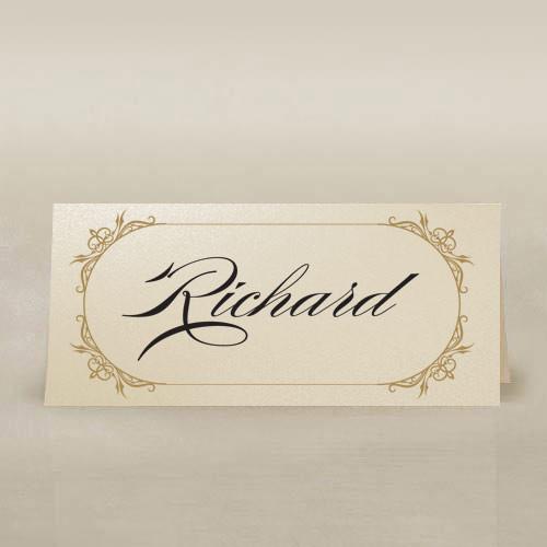 ornate frame ivory place cards
