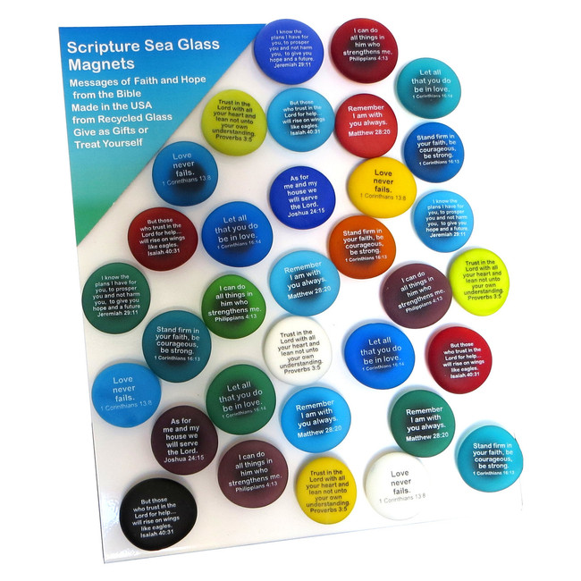 Scripture Magnet display from Lifeforce Glass, Inc.