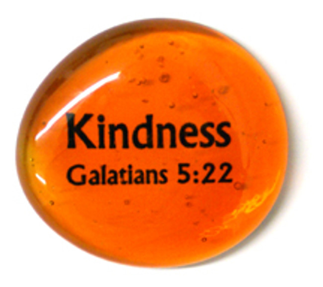 Fruit of the Spirit Glass Stone- Kindness
