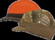 Fleece & Knit Visor Cap Reversible Adv. Brn/ Blaze