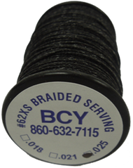 BCY #62 XS Serving .025 Black Bowstring Material