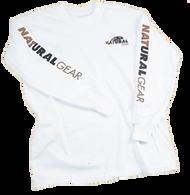 Natural Gear Long Sleeve Logo T-Shirt White 2Xlarge