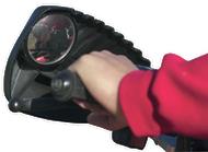 Kolpin Hand Guard w/Mirror Black - 1 Pair