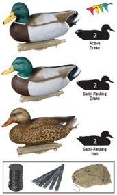 Flambeau Storm Front Wood Duck Weighted Decoy - 6 Pack