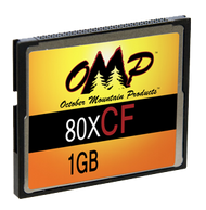 OMP 1GB 80X CF Card