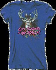 Buck Wear Womens Quit Staring Iris Short Sleeve T-Shirt 2Xlarge