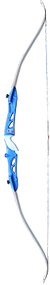 """Western 2015 Knight 66"""" Takedown Recurve Bow Blue Right Hand 25# w/White Limbs"""