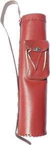 "Newton Leather Back Quiver 23"" Red"