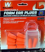GSM Walkers Foam Ear Plugs - 10 Pieces