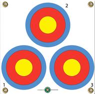 "Arrowmat 3 Spot Target 17""x17"" - 3 Pack Paper Targets"