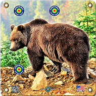 Arrowmat Grizzly Bear Target 17x17 - 3 Pack Paper Targets
