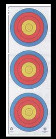 Maple Leaf 4-Color Fita Official 3-Spot Vertical Paper Target/Wht Background - 25 Pieces
