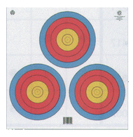 Maple Leaf 4-Color Fita Official 3-Spot Paper Target (White Background) - 25 Pieces