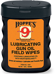 Hoppes Lubricating Gun Oil Field Wipes 50-3x5