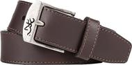 "SPG Mens Browning 38"" Basic Buckmark Belt Brown"