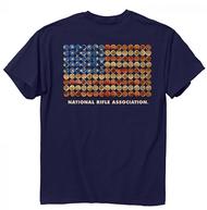 Buck Wear NRA Shot Gun Flag Short Sleeve T-Shirt XLarge