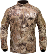 Kryptek Valhalla Men's Long Sleeve Zip Shirt Highlander Camo 2XLarge