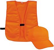 Outdoor Cap Youth Cap & Vest Combo Blaze Orange