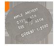 Apple Black Sil.025 Cutoff Blade