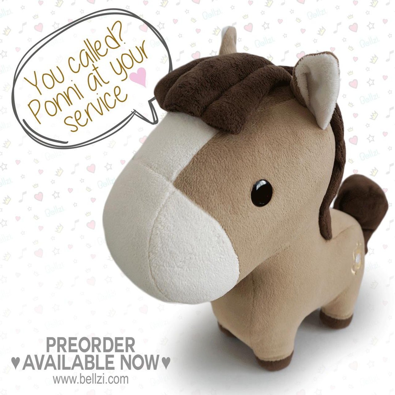 Bellzi Ponni the Cute Pony Stuffed Animal Plush
