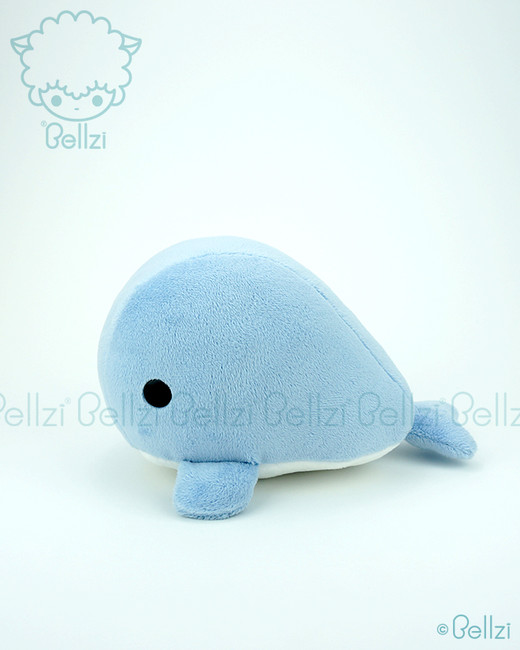 Bellzi® Cute Blue Whale Stuffed Animal Plush Toy - Whali
