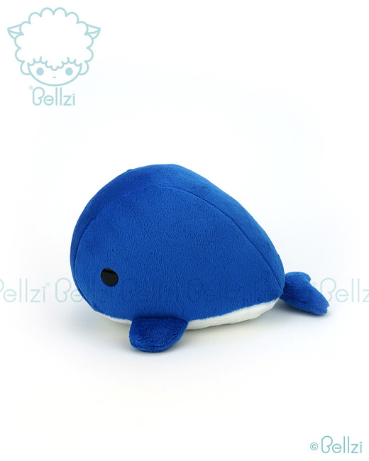 Bellzi® Cute Electric Blue Whale Stuffed Animal Plush Toy - Whali