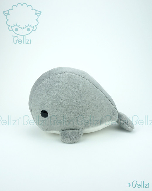 Bellzi® Cute Gray Whale Stuffed Animal Plush Toy - Whali