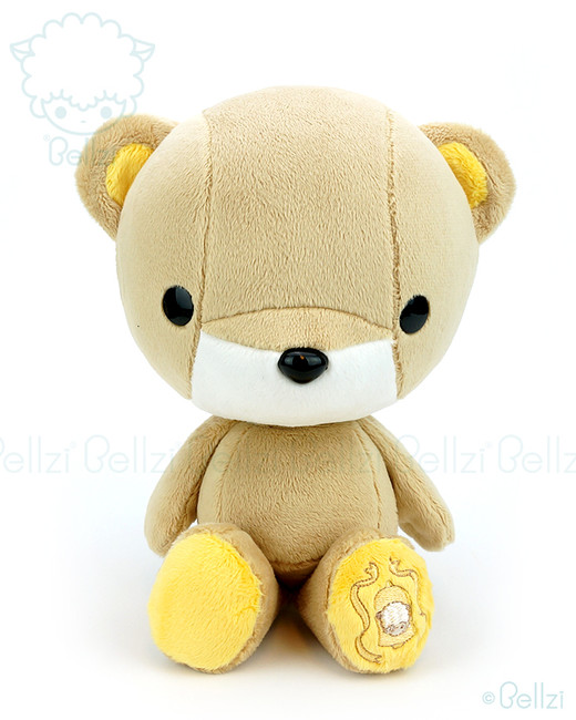 Bellzi® Cute Brown with Yellow Bear Stuffed Animal Plush Toy - Teddi
