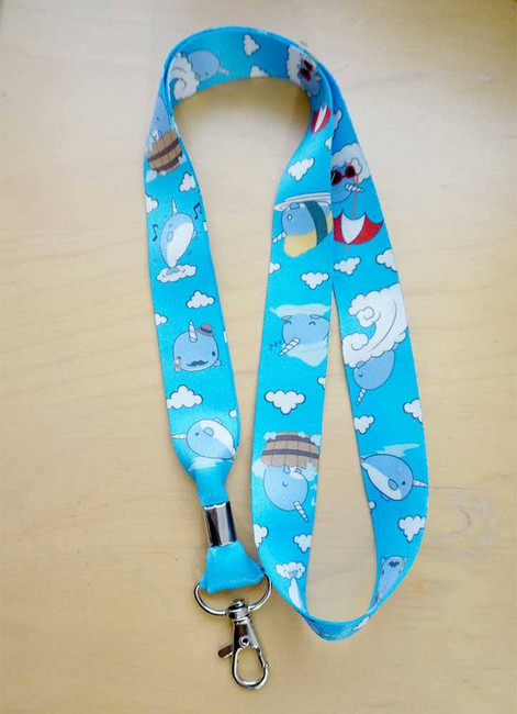 Bellzi® Cute Narrzi the Narwhal Lanyard Badge Holder