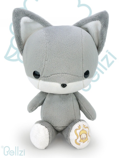 Bellzi® Cute Gray Fox Stuffed Animal Plush Toy - Foxxi
