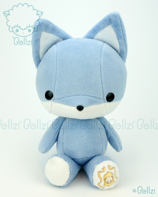 Bellzi® Cute Blue Fox Stuffed Animal Plush Toy - Foxxi