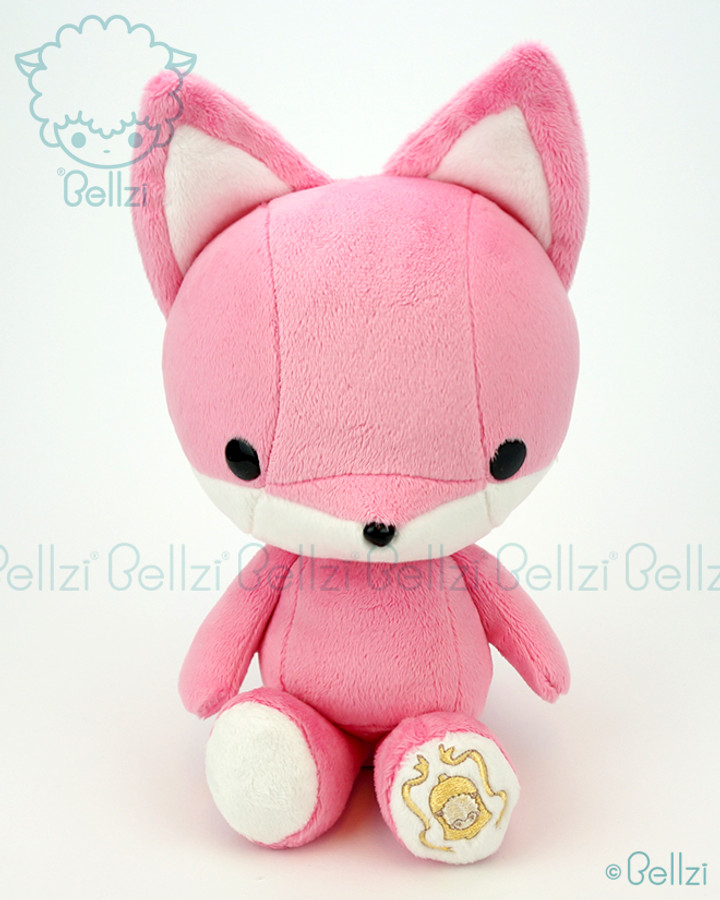 Bellzi cute pink fox stuffed animal plush toy foxxi - Pink fox instagram ...