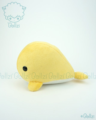 Bellzi® Cute Yellow Whale Stuffed Animal Plush Toy - Whali